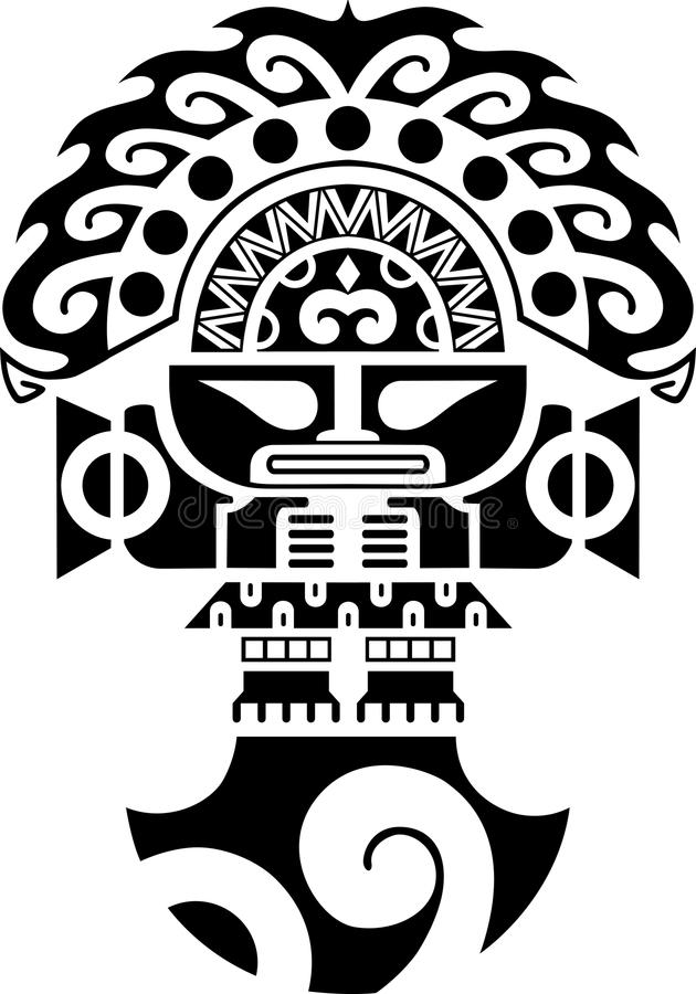 Φυλετική εθιμοτυπική απεικόνιση πολιτισμού Inca μαχαιριών Tumi απεικόνιση αποθεμάτων