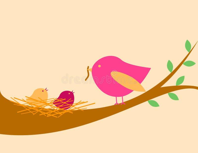 φωλιά πουλιών διανυσματική απεικόνιση