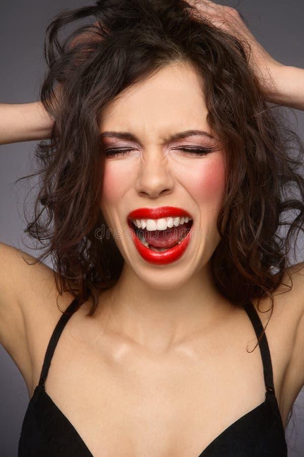 φωνάζοντας γυναίκα στοκ εικόνα με δικαίωμα ελεύθερης χρήσης
