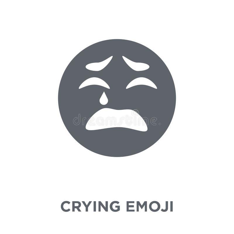 Φωνάζοντας εικονίδιο emoji από τη συλλογή Emoji διανυσματική απεικόνιση