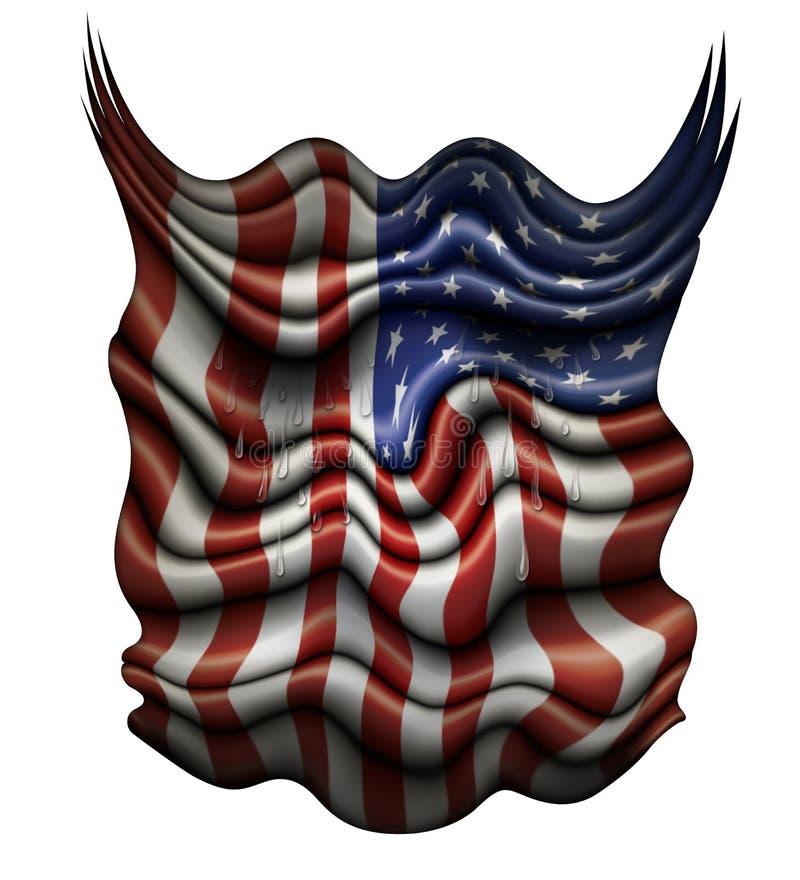 Φωνάζοντας Ηνωμένη σημαία διανυσματική απεικόνιση