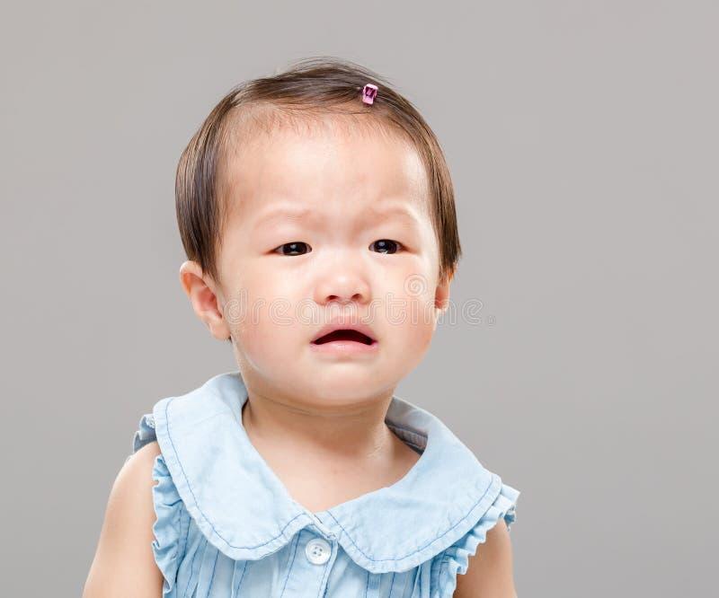 φωνάζοντας κορίτσι μωρών στοκ εικόνα με δικαίωμα ελεύθερης χρήσης