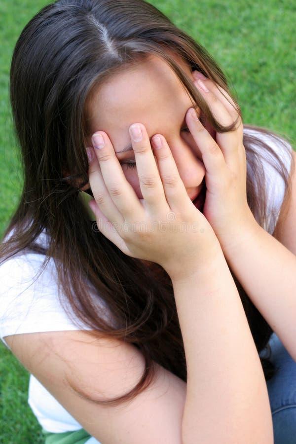 φωνάζοντας κορίτσι στοκ εικόνα
