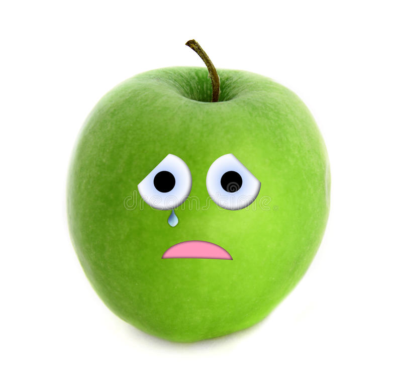 Φωνάζοντας μήλο διανυσματική απεικόνιση