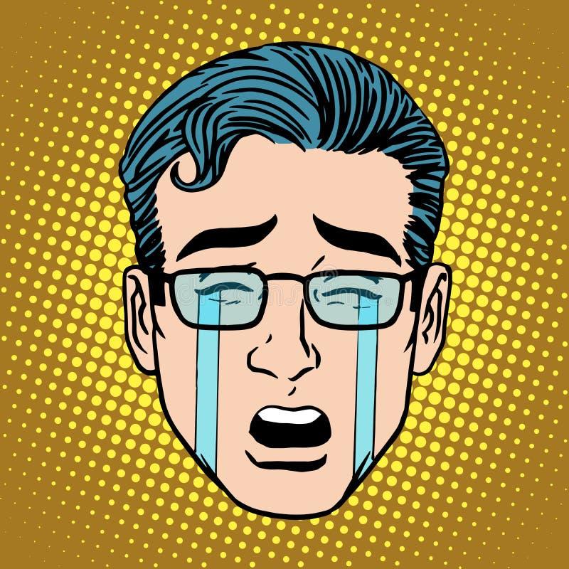 Φωνάζοντας σύμβολο εικονιδίων προσώπου ατόμων θλίψης Emoji ελεύθερη απεικόνιση δικαιώματος