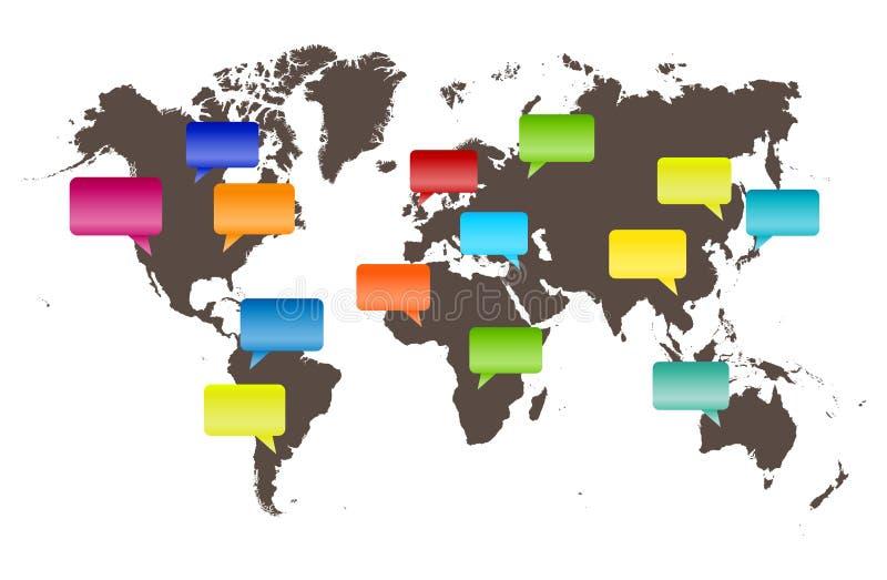 Φωνές του κόσμου ελεύθερη απεικόνιση δικαιώματος