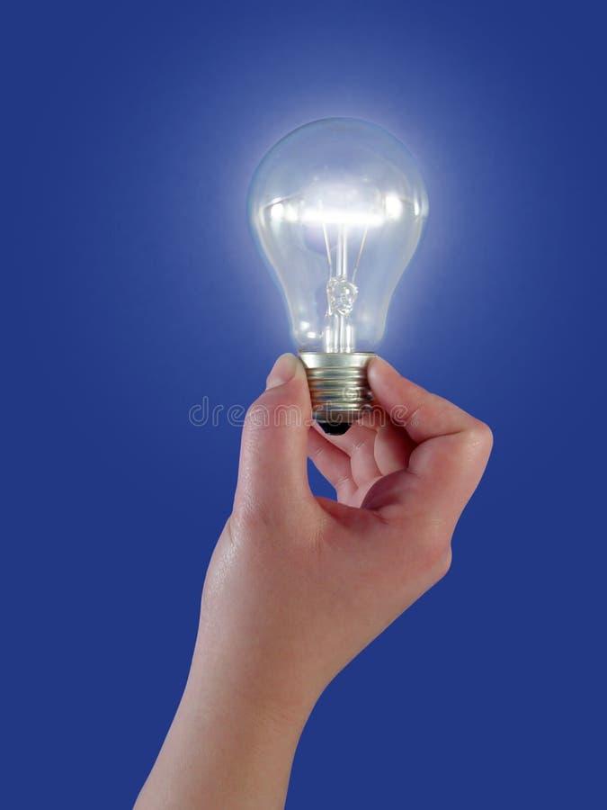 φως έννοιας βολβών Στοκ φωτογραφία με δικαίωμα ελεύθερης χρήσης