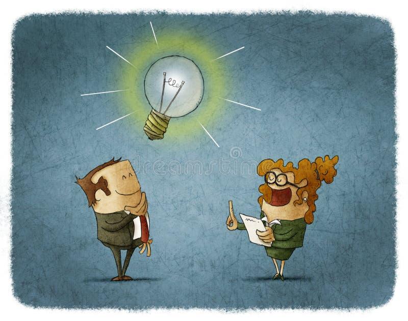 φως επιχειρησιακής ιδέας βολβών τραπεζογραμματίων ελεύθερη απεικόνιση δικαιώματος
