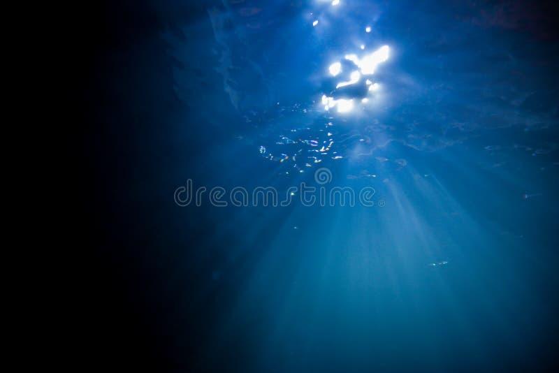 Φως, ηλιοφάνεια υποβρύχια διανυσματική απεικόνιση