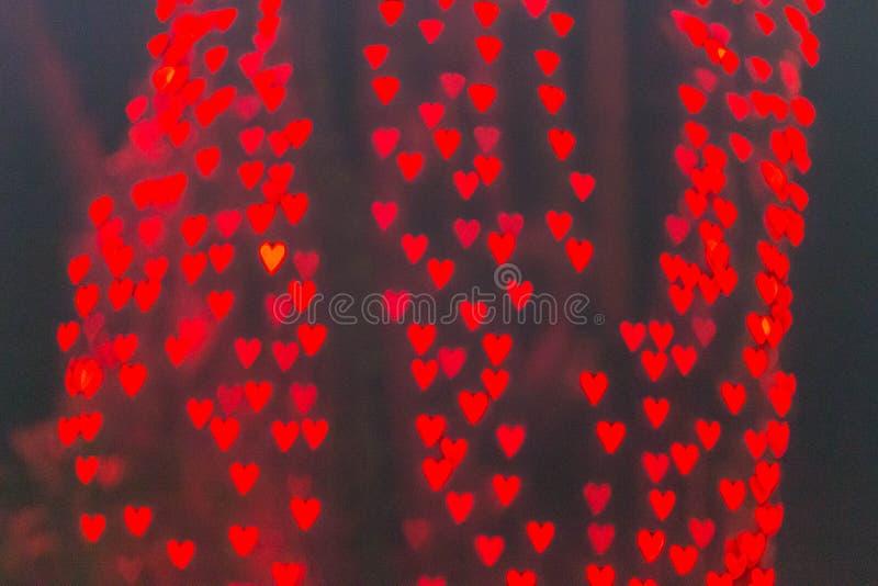 Φως καρδιών bokeh στοκ εικόνα