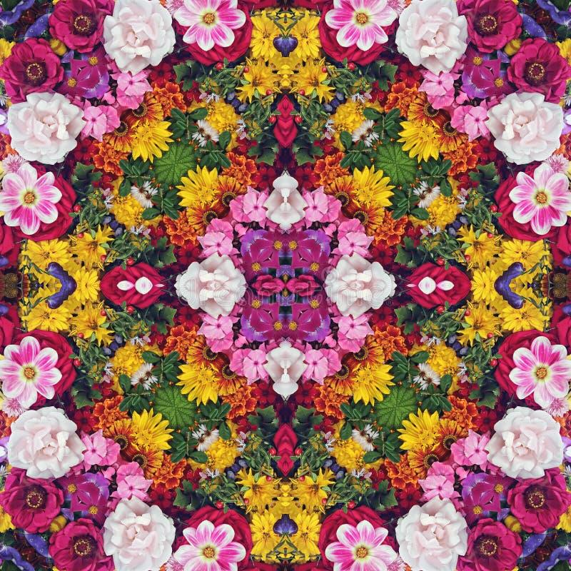 φως λουλουδιών ανασκόπησης playnig Επίδραση ενός καλειδοσκόπιου στοκ εικόνα