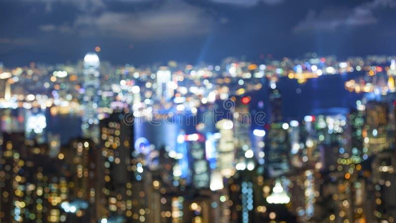 Φως πόλεων Blured στοκ εικόνες με δικαίωμα ελεύθερης χρήσης