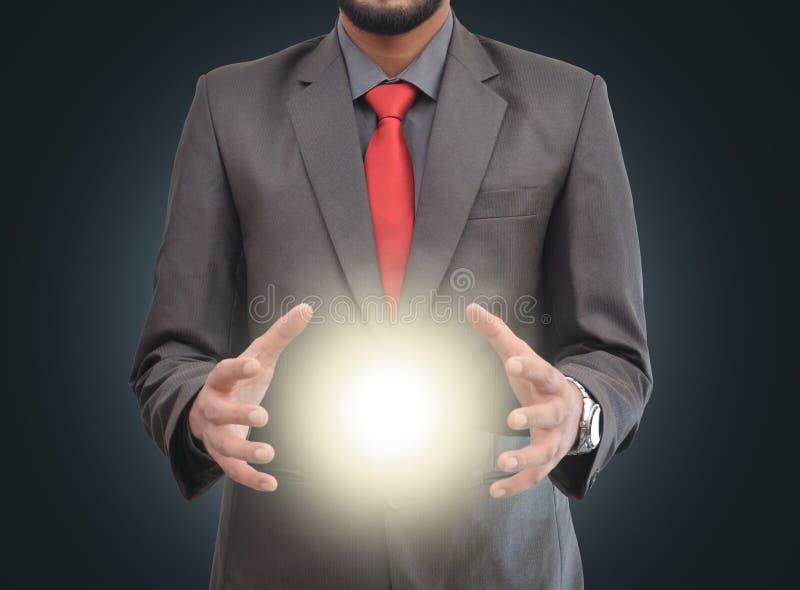 Φως στα χέρια ενός επαγγελματία στοκ εικόνες