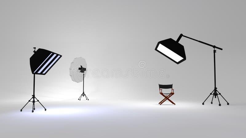 Φως στούντιο διανυσματική απεικόνιση
