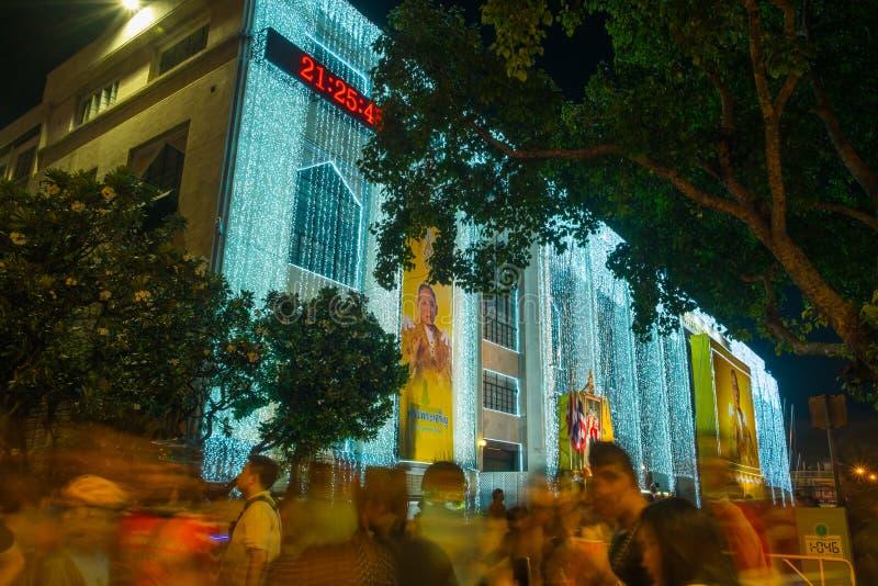 Φως της Μπανγκόκ του φεστιβάλ ευτυχίας στοκ φωτογραφία με δικαίωμα ελεύθερης χρήσης