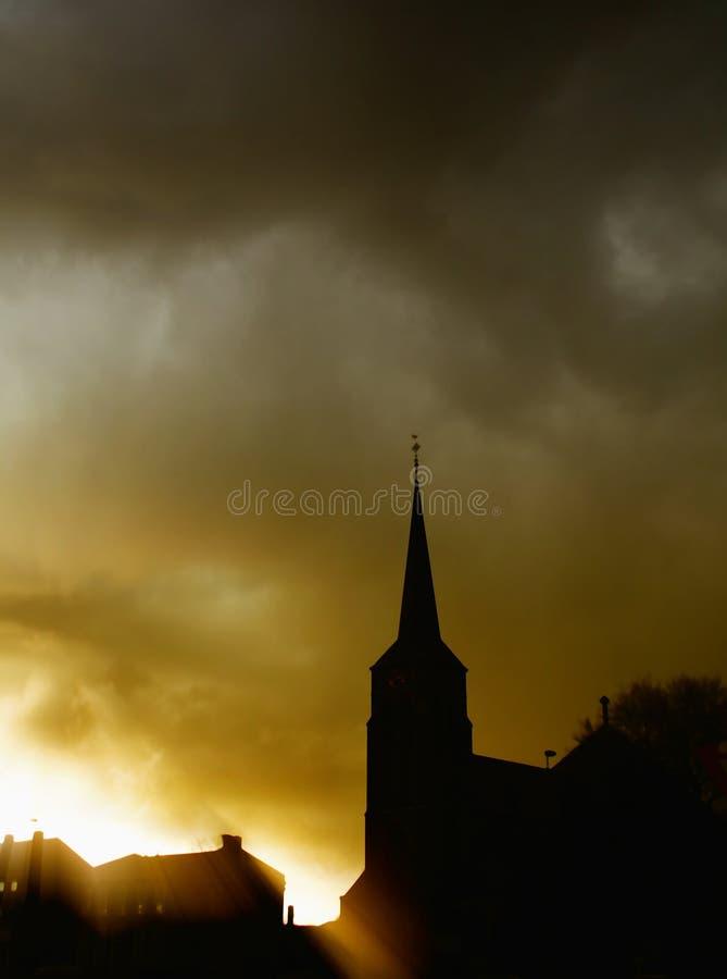 φως του ήλιου εκκλησιών στοκ φωτογραφία