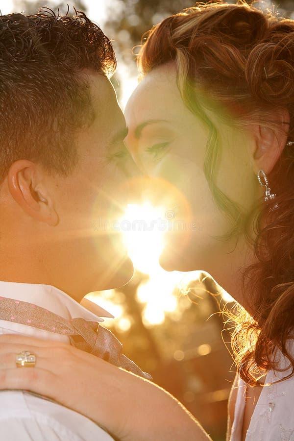 φως του ήλιου ζευγών στοκ εικόνες με δικαίωμα ελεύθερης χρήσης