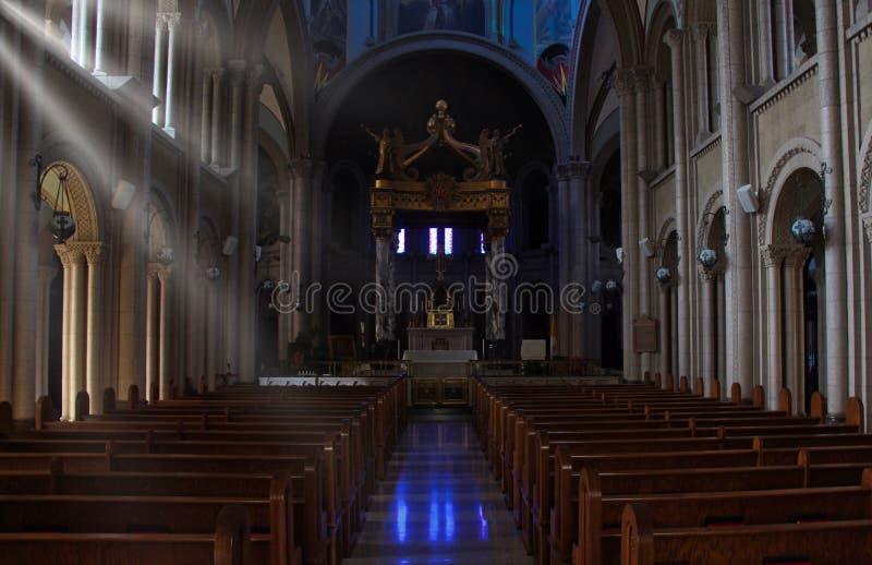 Φως του ήλιου στην εκκλησία στοκ φωτογραφίες με δικαίωμα ελεύθερης χρήσης