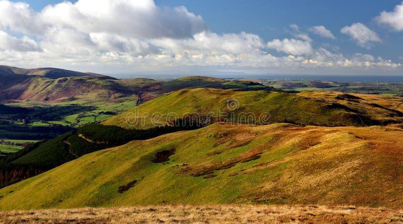 Φως του ήλιου φθινοπώρου πέρα από την κοιλάδα Lorton στοκ εικόνες με δικαίωμα ελεύθερης χρήσης