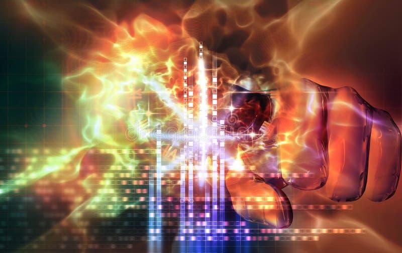 φως χεριών αποτελεσμάτων διανυσματική απεικόνιση