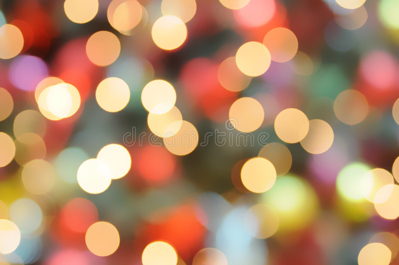 φως Χριστουγέννων ανασκό&p στοκ φωτογραφία