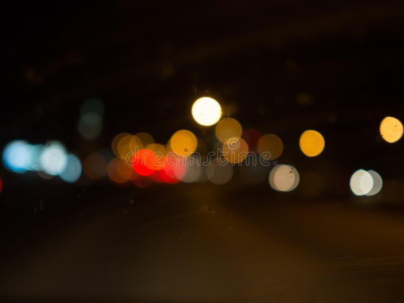 Φως Bokeh στο σκοτεινό υπόβαθρο στοκ φωτογραφία