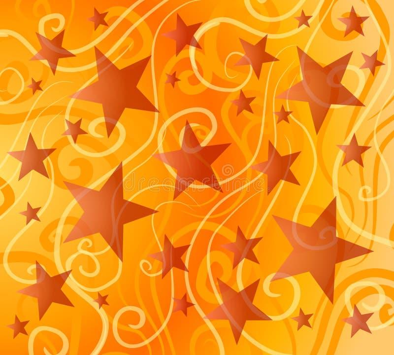 φωτεινά ζωηρόχρωμα αστέρια προτύπων απεικόνιση αποθεμάτων