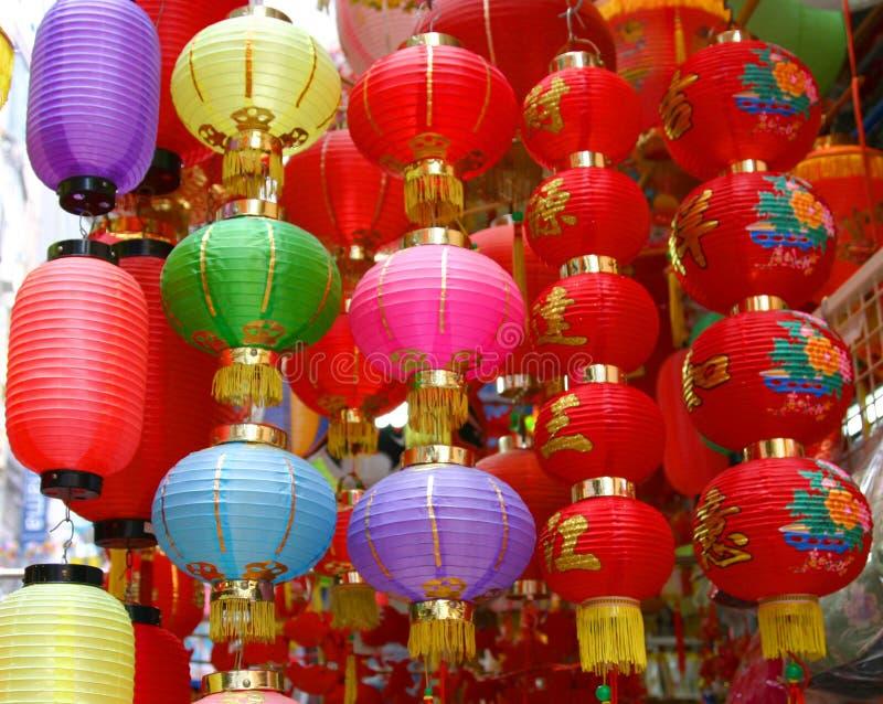 φωτεινά κινεζικά φανάρια στοκ εικόνες με δικαίωμα ελεύθερης χρήσης