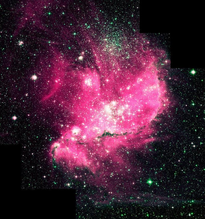 Φωτεινά κόκκινα στοιχεία εικόνας κόσμου αστακών ενισχυμένα νεφέλωμα από τη NASA/ESO | Ταπετσαρία υποβάθρου γαλαξιών στοκ φωτογραφίες