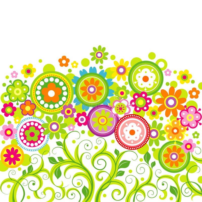 Λουλούδια σε ένα άσπρο υπόβαθρο διανυσματική απεικόνιση