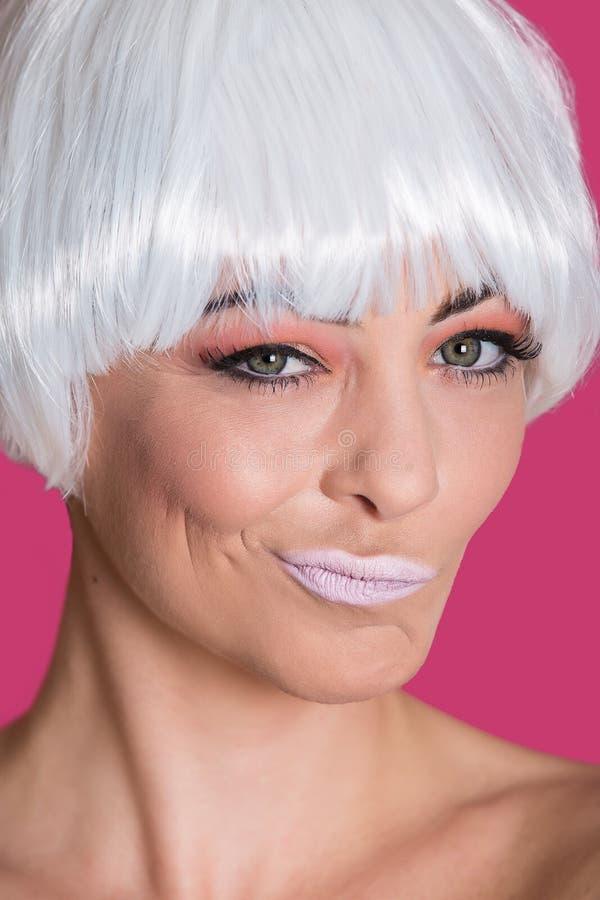 Φωτεινά πρότυπα χείλια ζαρώματος στοκ εικόνες