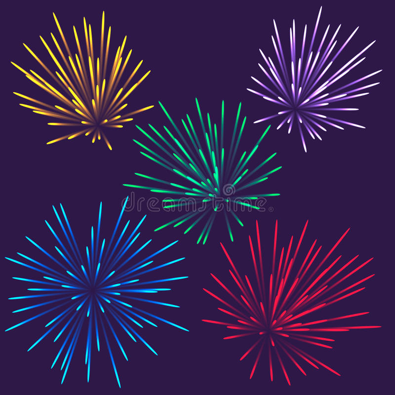 Φωτεινά πυροτεχνήματα ελεύθερη απεικόνιση δικαιώματος