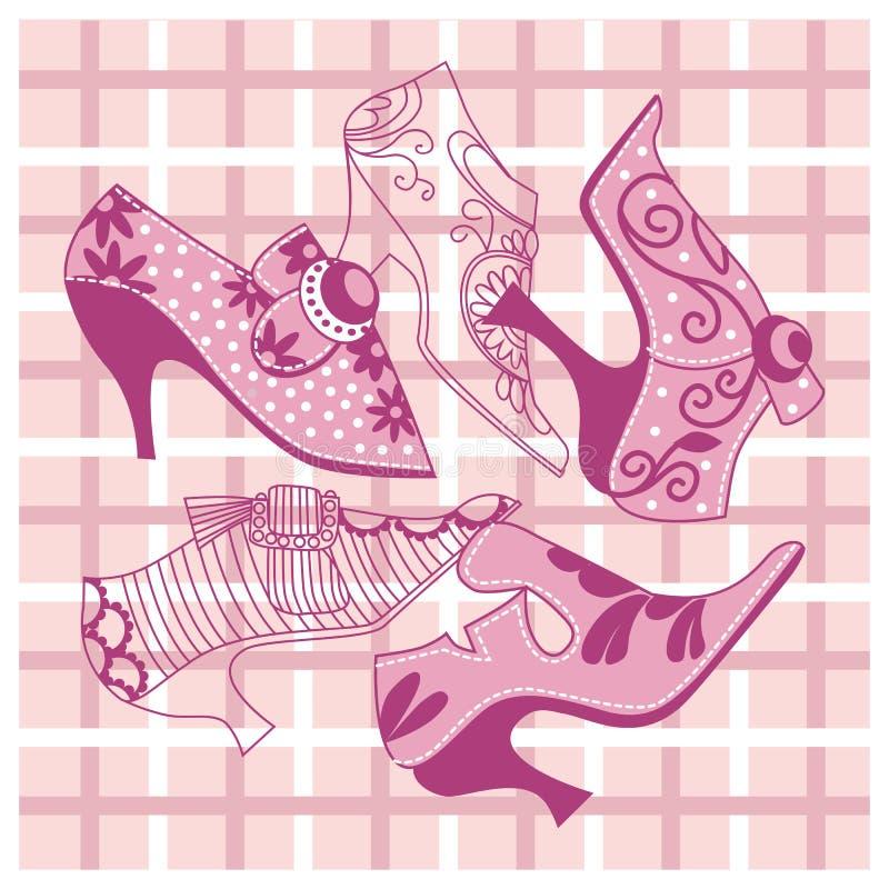 Φωτεινά ρόδινα εκλεκτής ποιότητας παπούτσια γυναικών ` s στοκ εικόνα με δικαίωμα ελεύθερης χρήσης