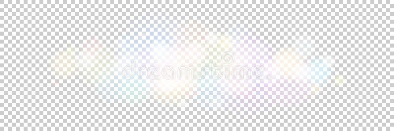 Φωτεινά χρωματισμένα φω'τα σε ένα διαφανές υπόβαθρο απεικόνιση αποθεμάτων