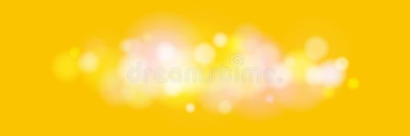 Φωτεινά χρωματισμένα φω'τα στο κίτρινο υπόβαθρο διανυσματική απεικόνιση
