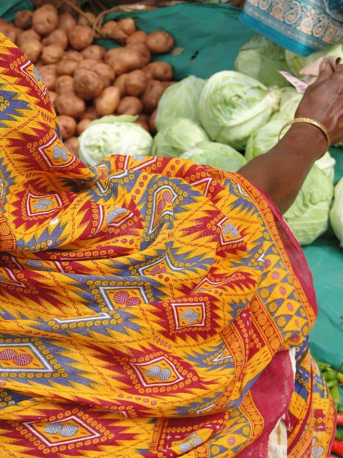 φωτεινά χρωματισμένα saris λεπ&t στοκ εικόνα με δικαίωμα ελεύθερης χρήσης