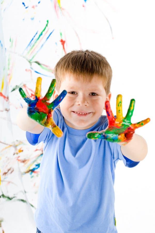 φωτεινά χρώματα αγοριών λίγ& στοκ φωτογραφίες