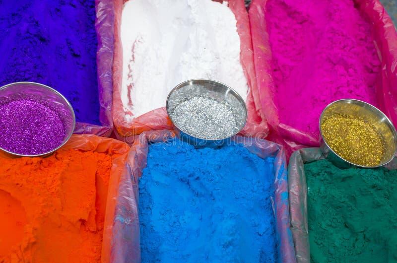 Φωτεινά χρώματα για πώληση στην αγορά της Ασίας στοκ εικόνες με δικαίωμα ελεύθερης χρήσης