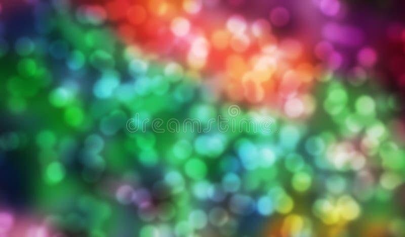 Φωτεινά χρώματα με την επίδραση επικέντρων στοκ εικόνα