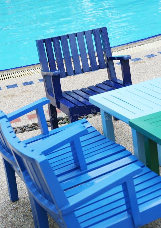 φωτεινές έδρες ξύλινες στοκ εικόνες