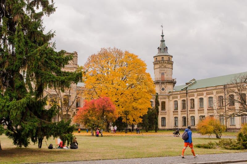 Φωτεινές εμφάσεις του φθινοπώρου πόλεων στοκ φωτογραφία