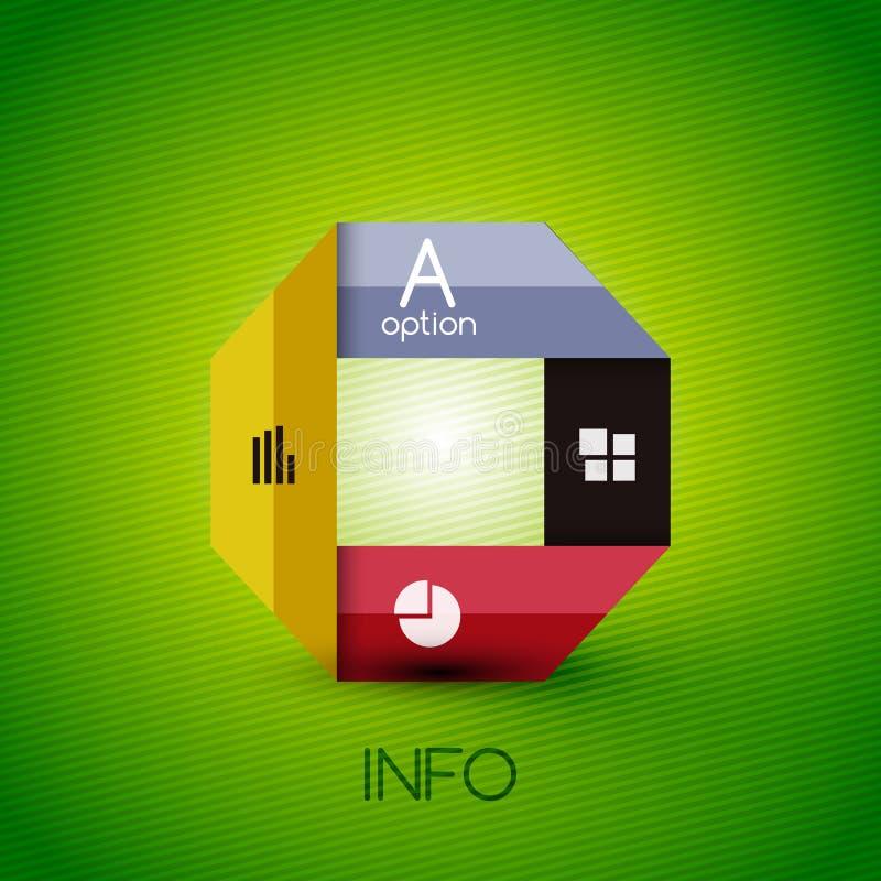 Φωτεινές στιλπνές γραμμές χρώματος - πρότυπα εμβλημάτων ελεύθερη απεικόνιση δικαιώματος