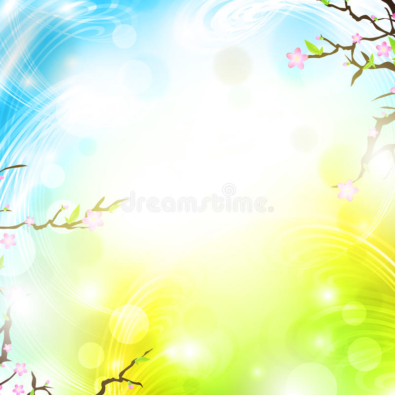 φωτεινή άνοιξη ανασκόπησης διανυσματική απεικόνιση