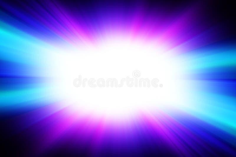 Φωτεινή άσπρη λάμψη σε ένα μπλε υπόβαθρο ελεύθερη απεικόνιση δικαιώματος