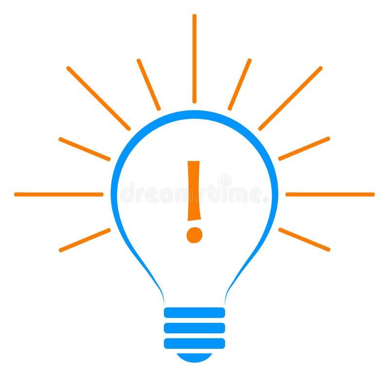 Φωτεινή έννοια λύσης ιδέας λαμπών φωτός ελεύθερη απεικόνιση δικαιώματος