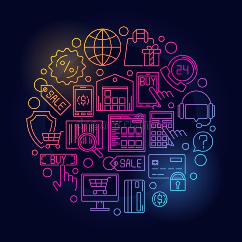 Φωτεινή απεικόνιση ηλεκτρονικού εμπορίου ελεύθερη απεικόνιση δικαιώματος
