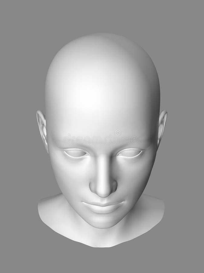 φωτεινή γυναίκα γραμμών ανασκόπησης μαύρη γίνοντη επικεφαλής διανυσματική απεικόνιση