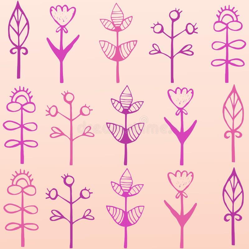 Φωτεινή, ζωηρόχρωμη κάρτα με τα λουλούδια Ρομαντικό υπόβαθρο για ιστοσελίδας, γαμήλιες προσκλήσεις, εκτός από τις κάρτες ημερομην απεικόνιση αποθεμάτων