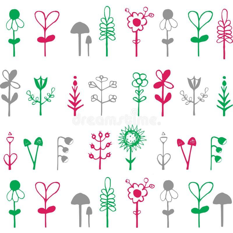 Φωτεινή, ζωηρόχρωμη κάρτα με τα λουλούδια Ρομαντικό υπόβαθρο για ιστοσελίδας, διανυσματική απεικόνιση