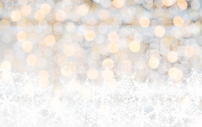 Φωτεινή θαμπάδα φω'των Χριστουγέννων στοκ φωτογραφίες